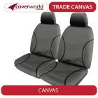 nissan navara - trade canvas seat covers - d23 - np300 - series 3 - rx - st - st-x - dual cab ute - nov 2017 to current