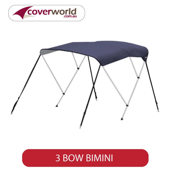 1.5 to 1.7m mounting width - 3 bow bimini - 1.4m canopy width