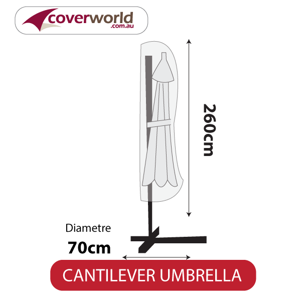 Cantilver Umbrella Cover - 260cm