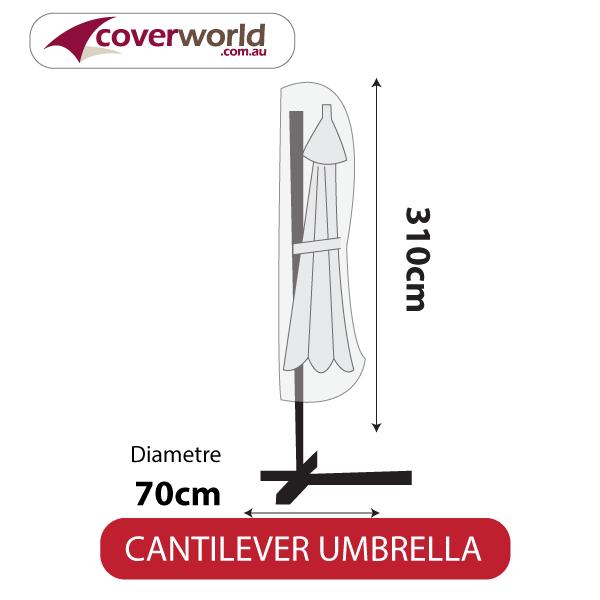 Cantilver Umbrella Cover - 310cm