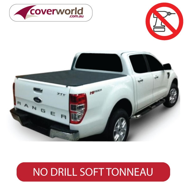 without sports bars & headboard, px ranger dual cab genuine no drill clip on tonneau cover