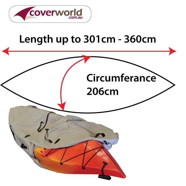 kayak - canoe cover - 301cm to 360cm