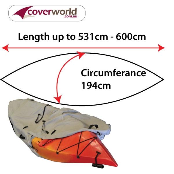 kayak - canoe cover - 551cm to 600cm