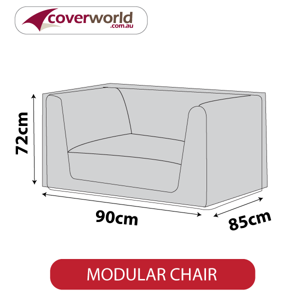 Modular Chair Cover fits Length 90cm - Square Shape