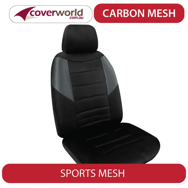 Golf Seat Covers - 77TSi, 77TDi, 90TSi, Trendline and Bluemotion Hatch - 6 Series - Carbon Mesh
