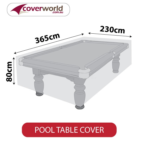 Pool Table Cover - 365cm Length