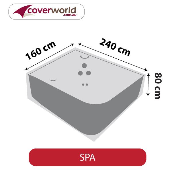 Spa Cover - Rectangle - 240cm Length