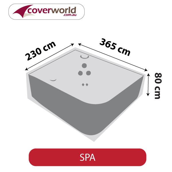 Spa Cover - Rectangle - 365cm Length