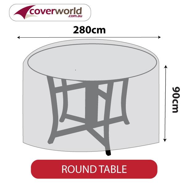 Round Table Cover - 280cm Diamatre