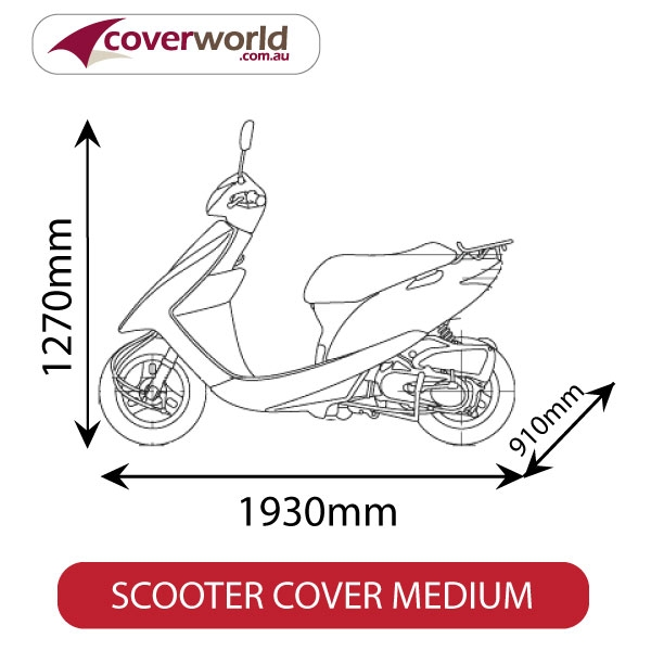 scooter cover - size medium - outdoor use