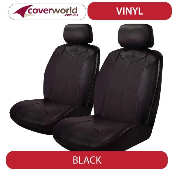 Black Bull Leather Look Vinyl