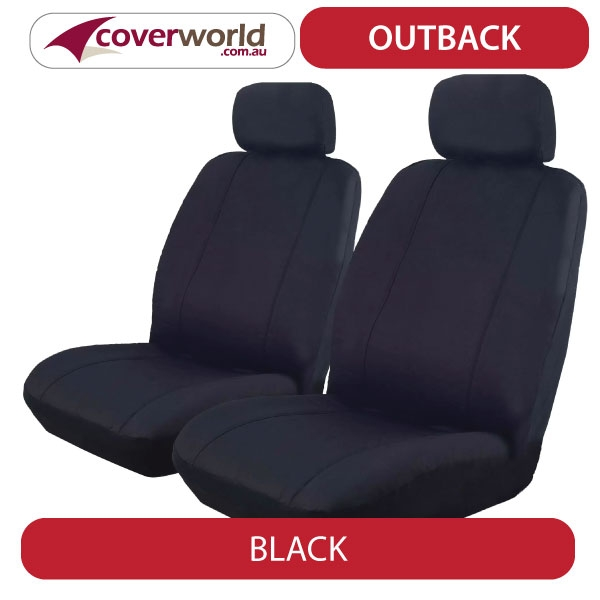 Seat Covers - Hilux Dual Cab Ute SR - SR5 - Custom Fit - Front and Rear Seats - Nov 2015 to Current