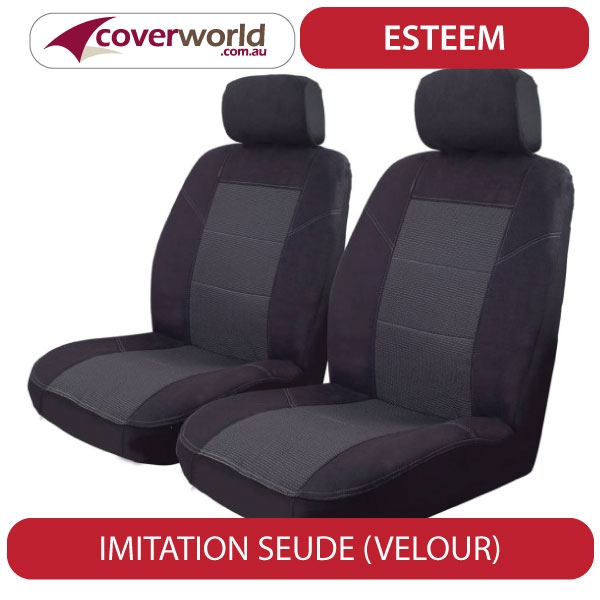 Seat Covers - Golf Hatch - Black Velour - Front and Back Seats - Airbag Safety Seams