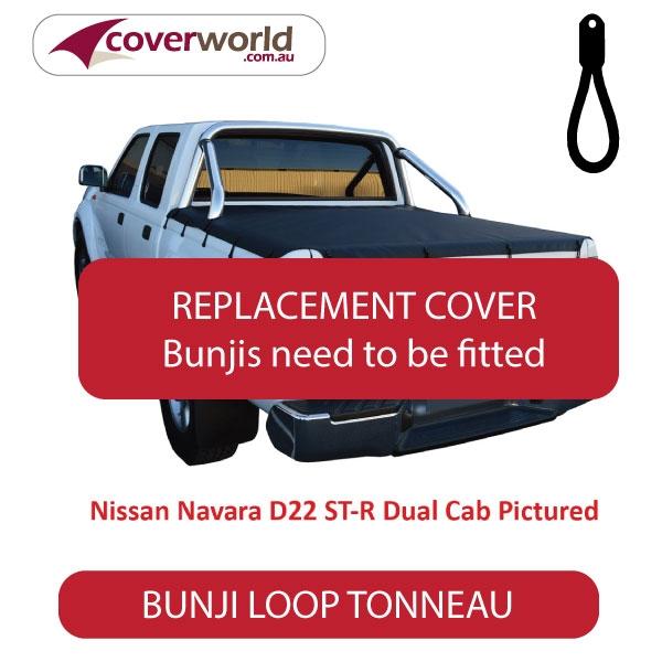 Nissan Navara D40 ST-X Dual Cab -  Soft Tonneau Cover - Replacement Bunji