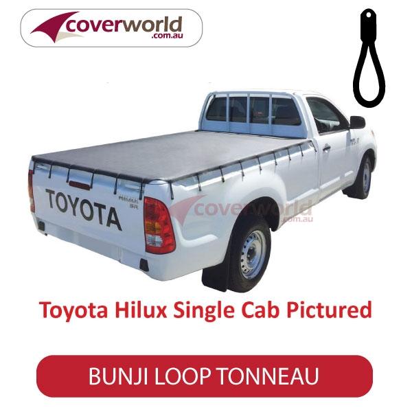 Toyota Hilux Single Cab -  Soft Tonneau Cover - Bunji - New Installation