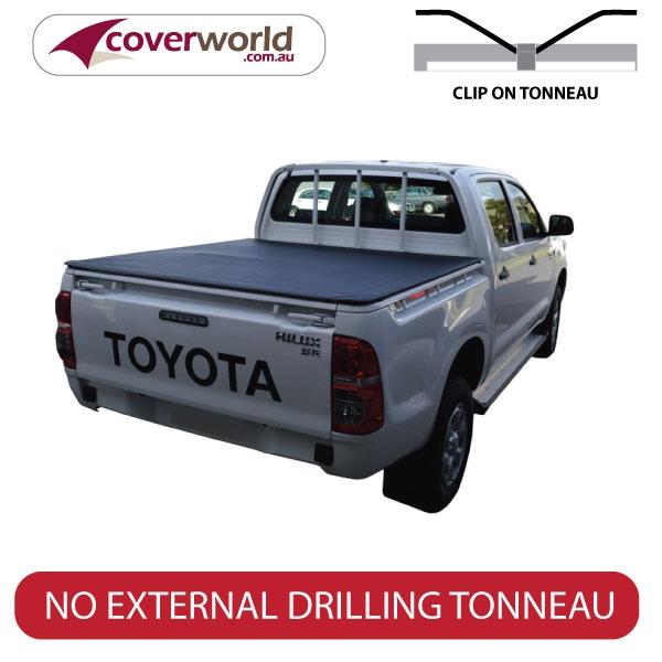 Toyota Hilux Dual Cab -  Soft Tonneau Cover - Clip On