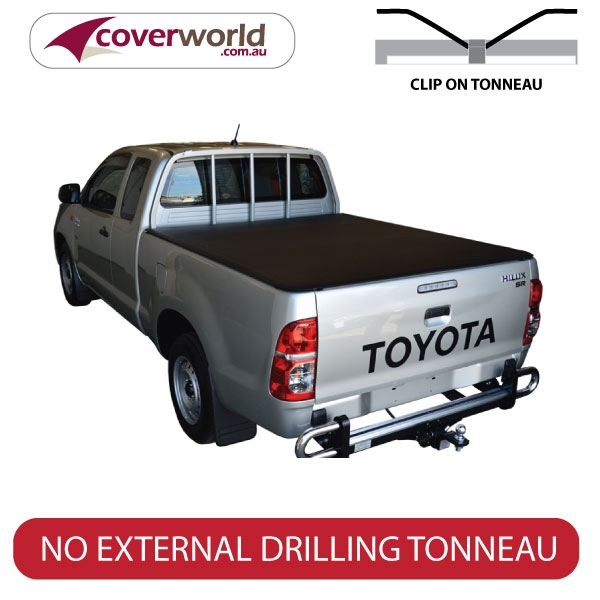 Toyota Hilux Extra Cab -  Soft Tonneau Cover - Clip On