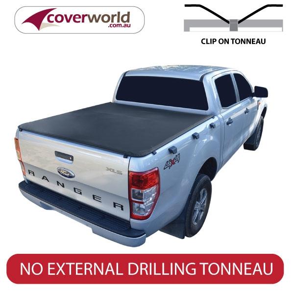 ford ranger tonneau cover double cab - clip on