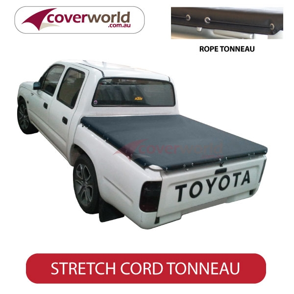 Hilux Dual Cab J Deck Without Sports Bar. With Headboard Rope Ute Tonneau Cover