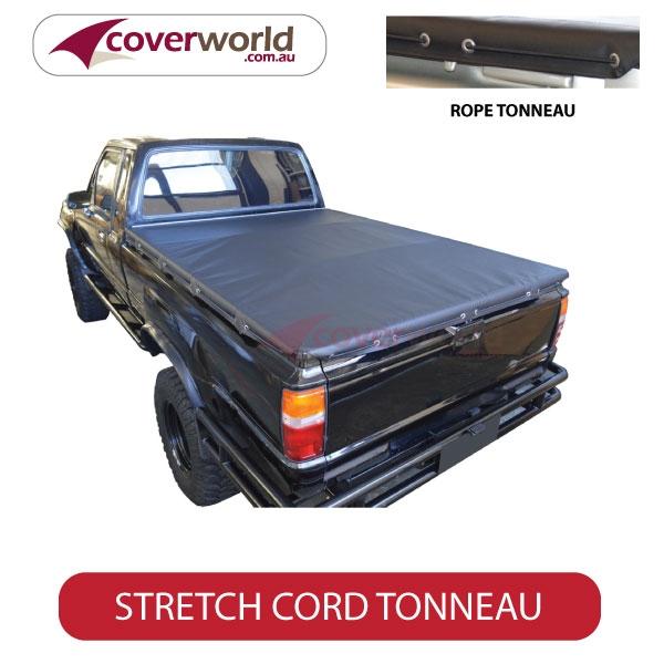Toyota Hilux Extra Cab -  Soft Tonneau Cover - Stretch Cord