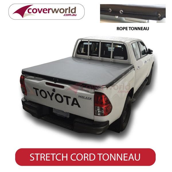 Toyota Hilux - Soft Tonneau Cover J-Deck - Rope Cover