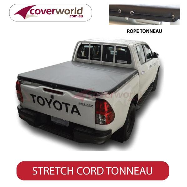 Toyota Hilux Dual Cab -  Soft Tonneau Cover - Stretch Cord