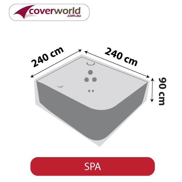 Spa Cover - Square - 240cm Length