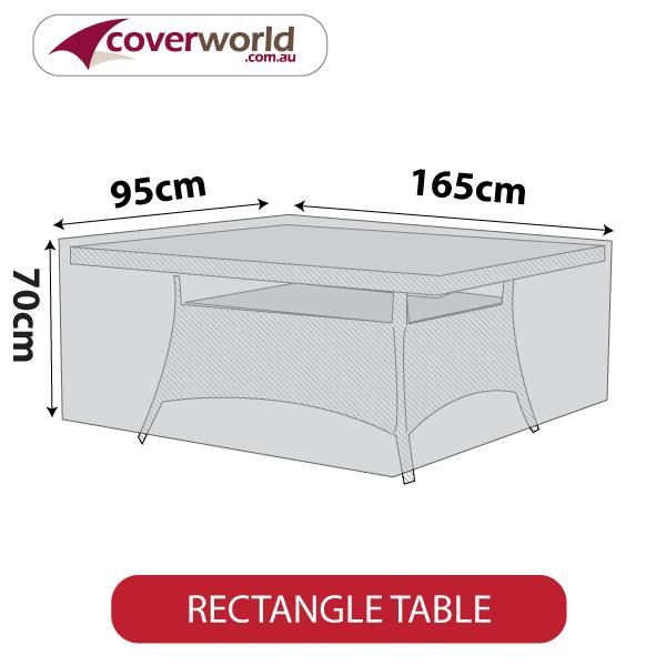 rectangle cover - 165cm length