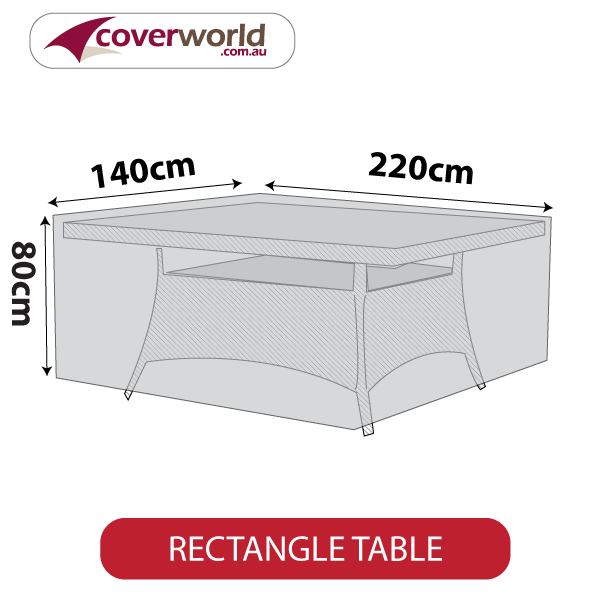 rectangle cover - 220cm length