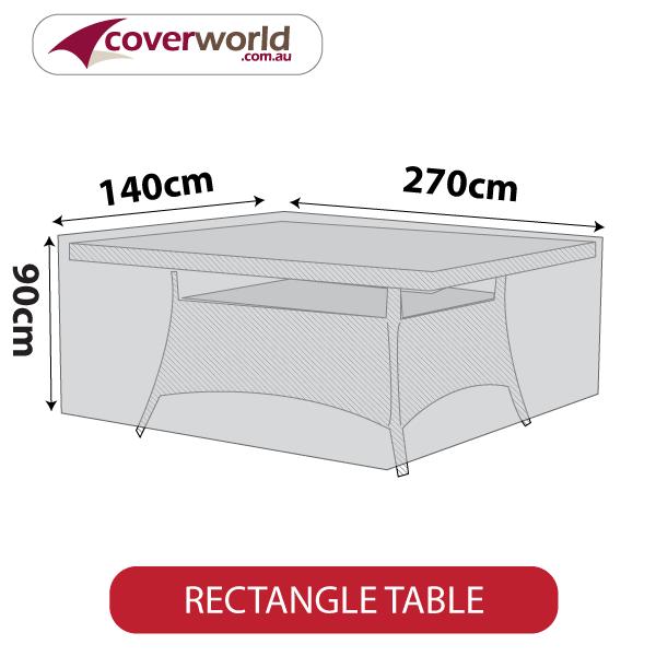 rectangle cover - 270cm length