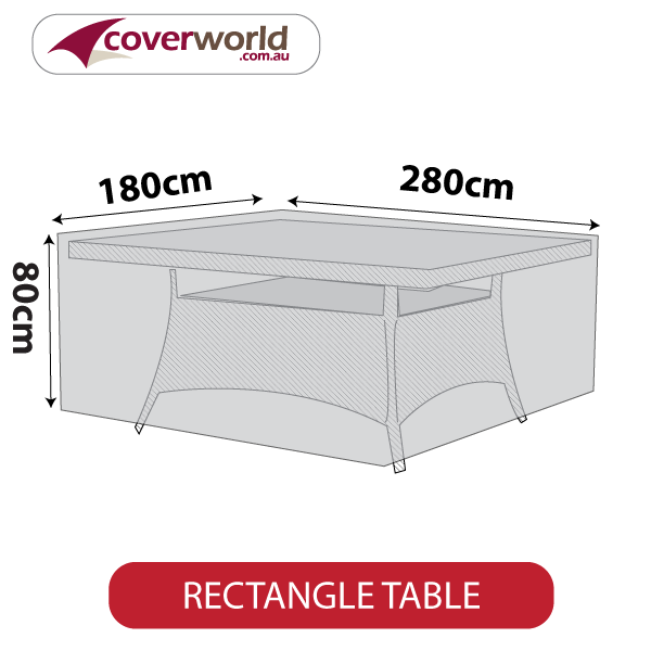 rectangle cover - 280cm length