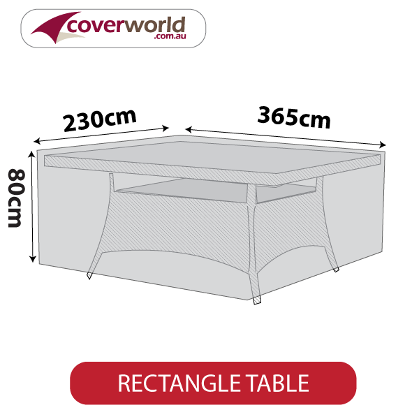 rectangle cover - 365cm length