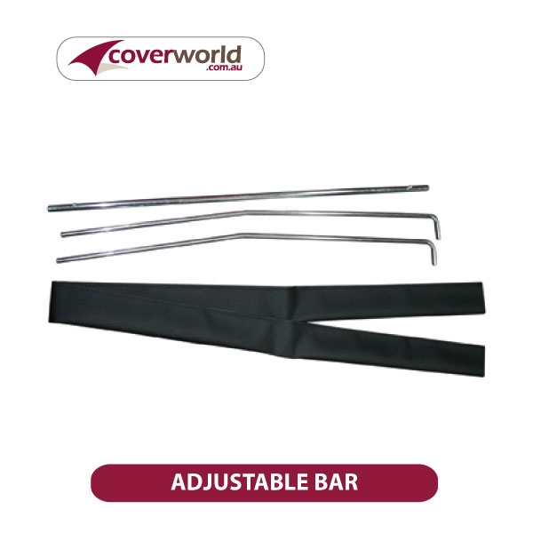 Adjustable Bar for Soft Tonneau or Trailer Covers (1150mm-1600mm)