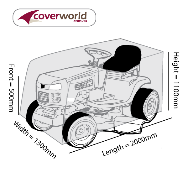 Ride On Mower Cover - 200cm Length
