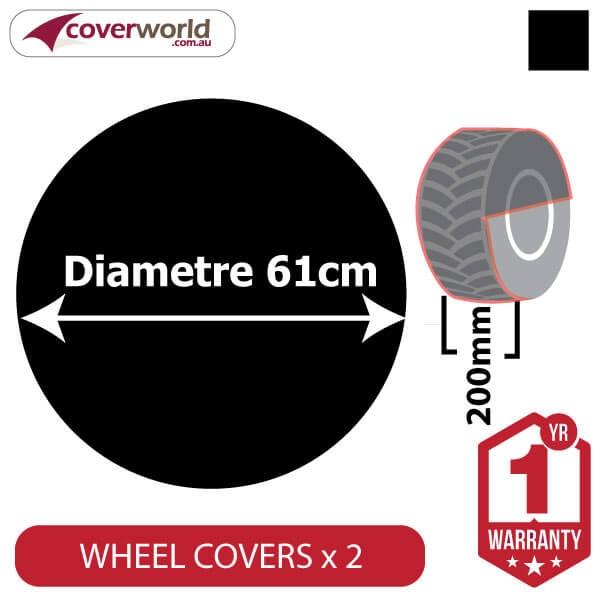 Ground Wheel Covers (Pack of 2) - 610mm Diameter x 200mm Depth