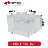 Tall Square Table Cover - 105cm