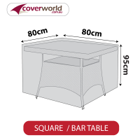 Tall Square Table Cover - 85cm