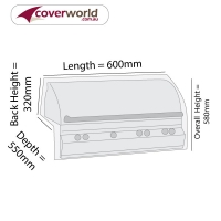 Built In BBQ Grill Cover 60cm Length