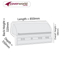 Built In BBQ Grill Cover 85cm Length