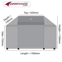 Hood Top BBQ Cover 130cm Length
