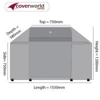 Hood Top BBQ Cover 155cm Length