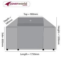 Hood Top BBQ Cover 175cm Length
