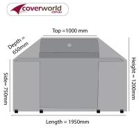 Hood Top BBQ Cover 190cm Length