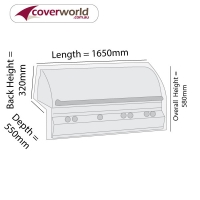 Built in BBQ Grill Cover 165cm Length