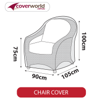 Outdoor Chair Cover - Large - 90cm Length