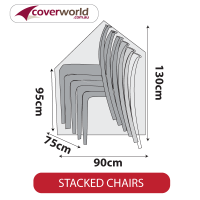 Stack of Chairs Cover - Large - 130cm Height