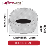 Round Chair Cover - Small - 105cm Diameter
