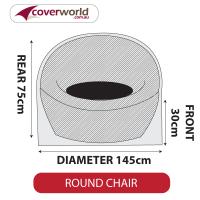Round Chair Cover - Medium - 145cm Diameter