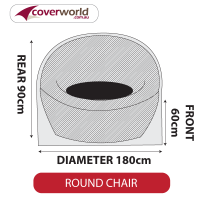 Round Chair Cover - Large - 180cm Diameter