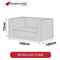 Modular Chair Cover | 100cm Length - 600D | Colour Grey